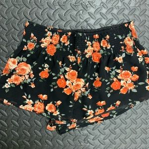 Forever 21 High Waist floral shorts